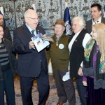 ניצולי שואה מיד עזר מתארחים בבית הנשיא ביום השואה הבינלאומי