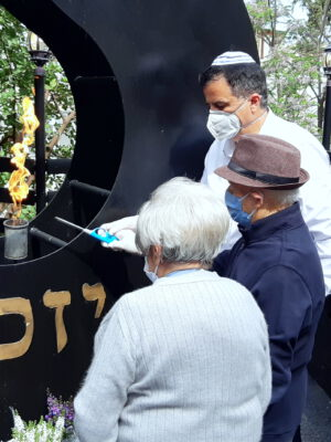 """בצל משבר הקורונה התקיים טקס מרכזי מיוחד ומרגש ל""""יום הזיכרון לשואה ולגבורה שואה"""" בעמותת """"יד עזר לחבר"""" בחיפה"""