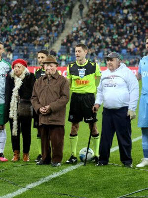 On the eve of the International Holocaust Day: the Haifa Maccabi FootbalI and Basketball Clubs hosted the Holocaust Survivors