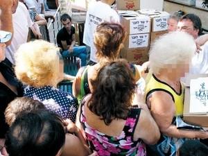 מרכז חלוקת המזון בחיפה. צילום: מקס ילינסון