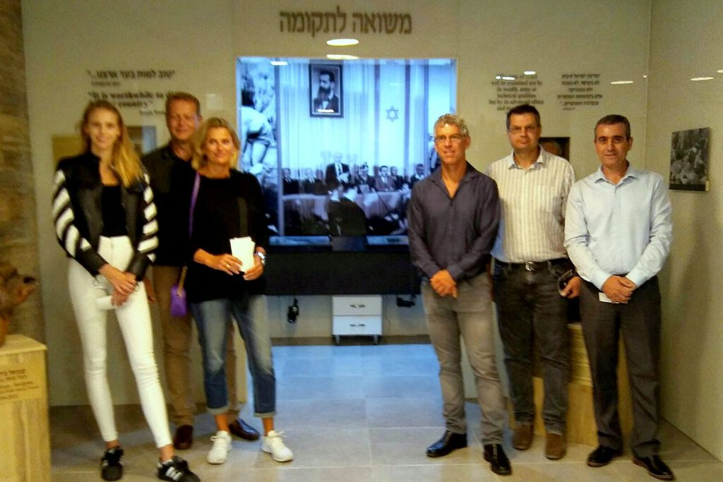 "Billionaire Mitch Goldhar visited the ""Holocaust and  Rebirth"" Museum in Haifa"