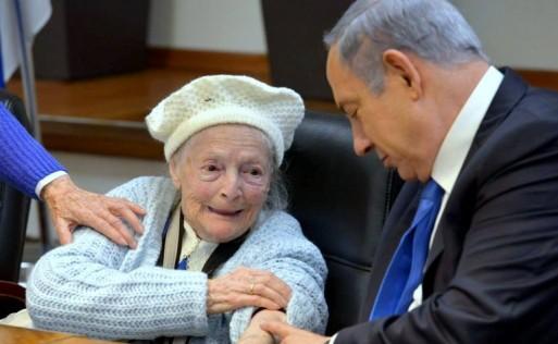 Holocaust-Überlebende der Yad Ezer Lahaver-Stiftung wurden von Premierminister Benyamin Netanyahu in seinem Amtssitz in Tel-Aviv begrüßt
