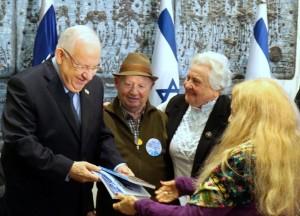 Holocaust-Überlebende der Yad Ezer Lahaver-Stiftung wurden von Präsident Reuven Rivlin anlässlich des Internationalen Holocaust-Gedenktages in der Residenz des Präsidenten empfangen